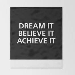 Motivational Throw Blanket