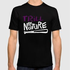 Trill By Nature Black Mens Fitted Tee MEDIUM