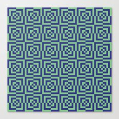 Blue and green - Optical Game 23 Canvas Print