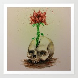 Skullflower Art Print