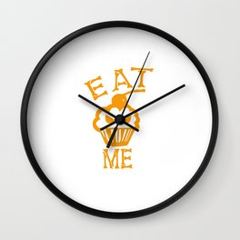Eat me yellow version Wall Clock