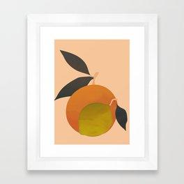 An Orange and a Lemon Framed Art Print