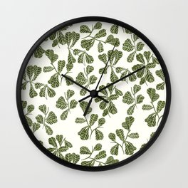 Fig Leaf Pattern Wall Clock