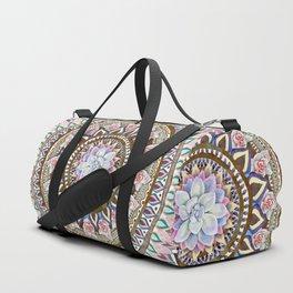 succulent mandala 6 Duffle Bag
