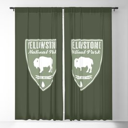 Yellowstone National Park Bison Blackout Curtain