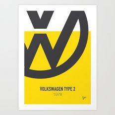 No009 My MISS SUNSHINE minimal movie car poster Art Print
