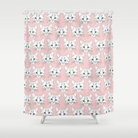 a lot of cats Shower Curtains featuring a lot of cats by galactikat