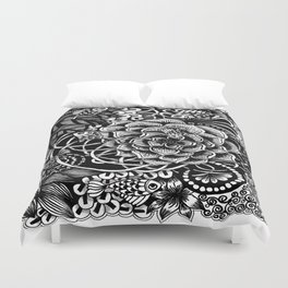 Zentangle Fishes! Fishes! Fishes! Duvet Cover