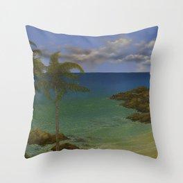 Along the Rocky Coast Throw Pillow