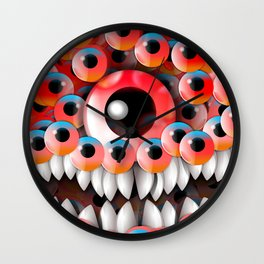 Eyeball Monster Wall Clock
