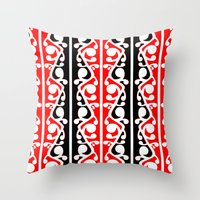 maori Throw Pillows featuring  Maori Kowhaiwhai Traditional Pattern  by mailboxdisco