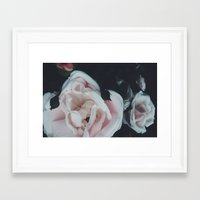 vintage flowers Framed Art Prints featuring Vintage Flowers by C O R N E L L