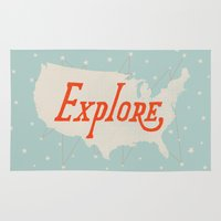 explore Area & Throw Rugs featuring Explore by Landon Sheely
