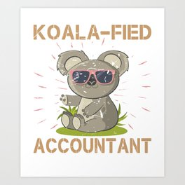 Accountant  Shirt Gift Art Print