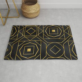Chic Art Deco: Sophisticated Flirtation While Sipping Cognac Rug