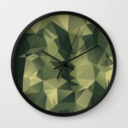 Low-poly camoflauge pattern Wall Clock