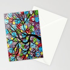 Abstract tree-8 Stationery Cards