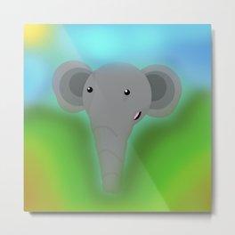 Elbert the Elephant Metal Print