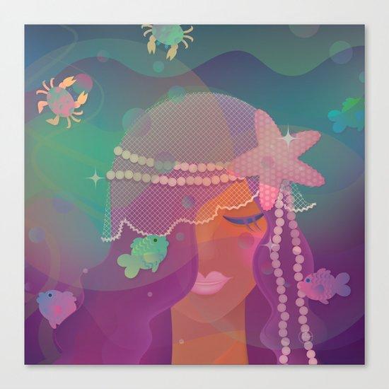 Mermaid II - Bohemian Starfish Hairpiece Canvas Print