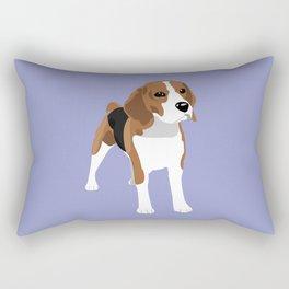 Beagle - Lilac Rectangular Pillow