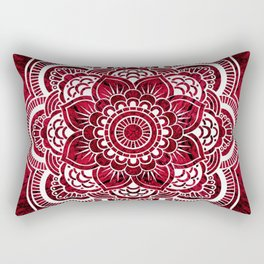 Mandala Red Colorburst #authentic Rectangular Pillow