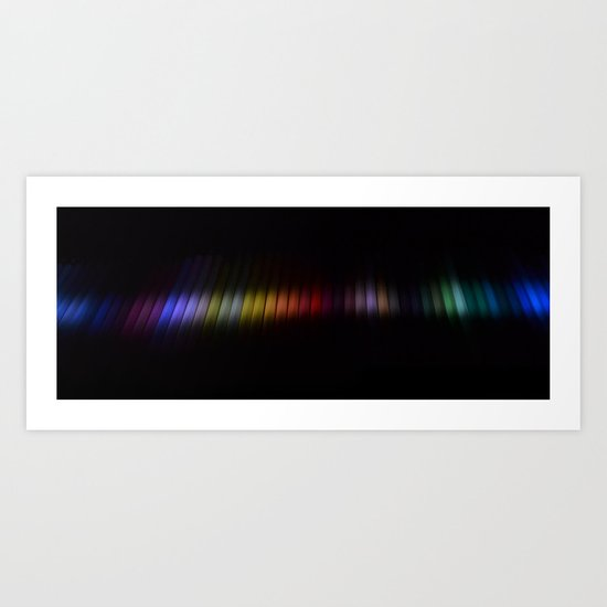 Pencil Rainbow Art Print