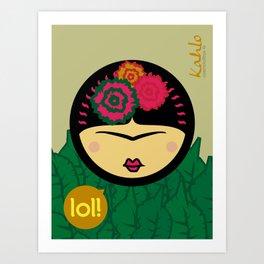 Kahlo-Lolita Art Print
