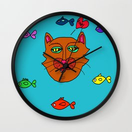 FishyCat Wall Clock