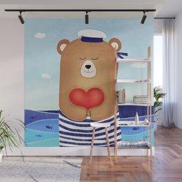 Nautical love Wall Mural