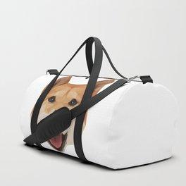 Heckin Handsome Shiba Inu Duffle Bag