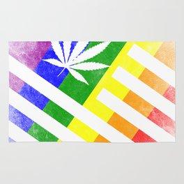 LGBT American High Distressed Flag Rug