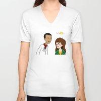 daria V-neck T-shirts featuring Daria meets Andres Bonifacio by Cesar Cueva
