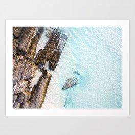 Crystal Clear 11 Mile Lagoon Esperance (01) Art Print