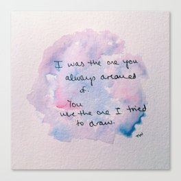 watercolor john mayer lyric Canvas Print