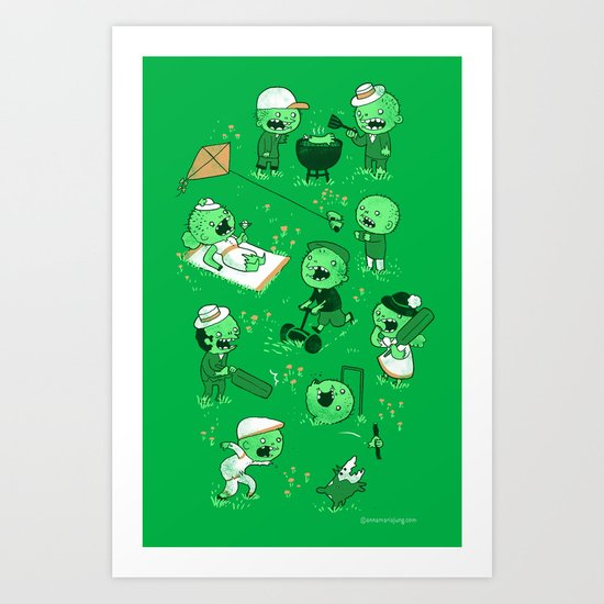 Lawn of the dead Art Print