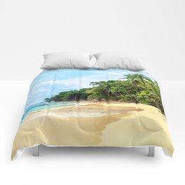 Tropical Beach - Landscape Nature Photography Comforters