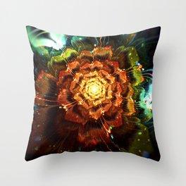 Submerged Flower Throw Pillow