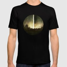Search For Fire MEDIUM Black Mens Fitted Tee