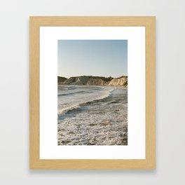 Sicily sunset in the Mediterranean sea Framed Art Print