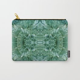 Abstract Kaleidoscope Green Mineral Crystal Texture Carry-All Pouch