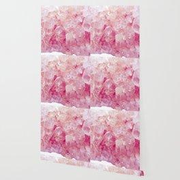 Pink Rose Quartz Crystals Wallpaper