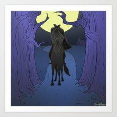 The Headless Horseman Art Print