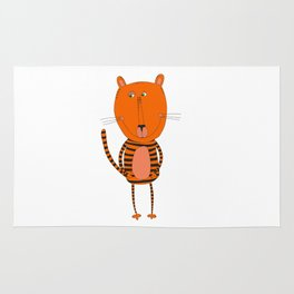 Cute funny tiger Rug
