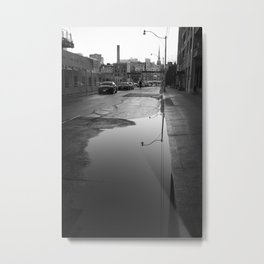 Old Toronto Urban drama in black and white Metal Print