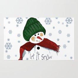 Let's build a snowman, let it snow Rug