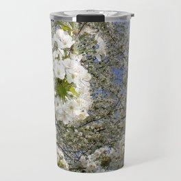 White Blossoms, Springtime Travel Mug