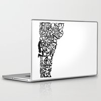 vermont Laptop & iPad Skins featuring Typographic Vermont by CAPow!