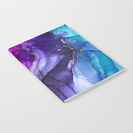 Abstract Vibrant Rainbow Ombre Notebook