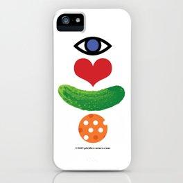 Eye Love Pickleball Rebus #1 iPhone Case