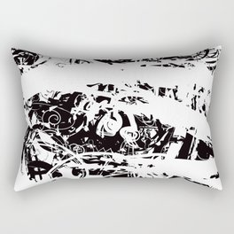 The Florest | Black and White Abstract Art | Art Prints Abstract Rectangular Pillow